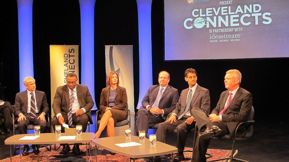 Panel of biotech industry leaders at Cleveland Connects event (pic by Brian Bull)
