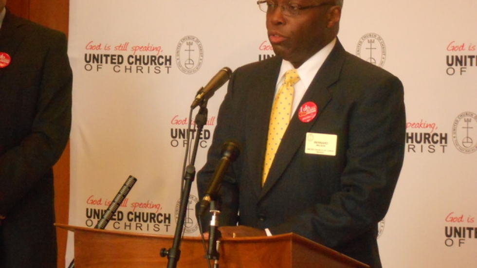 The Rev. Bernard Wilson says North Carolina's gay marriage ban threatens religious freedom. Photo by Joanna Richards