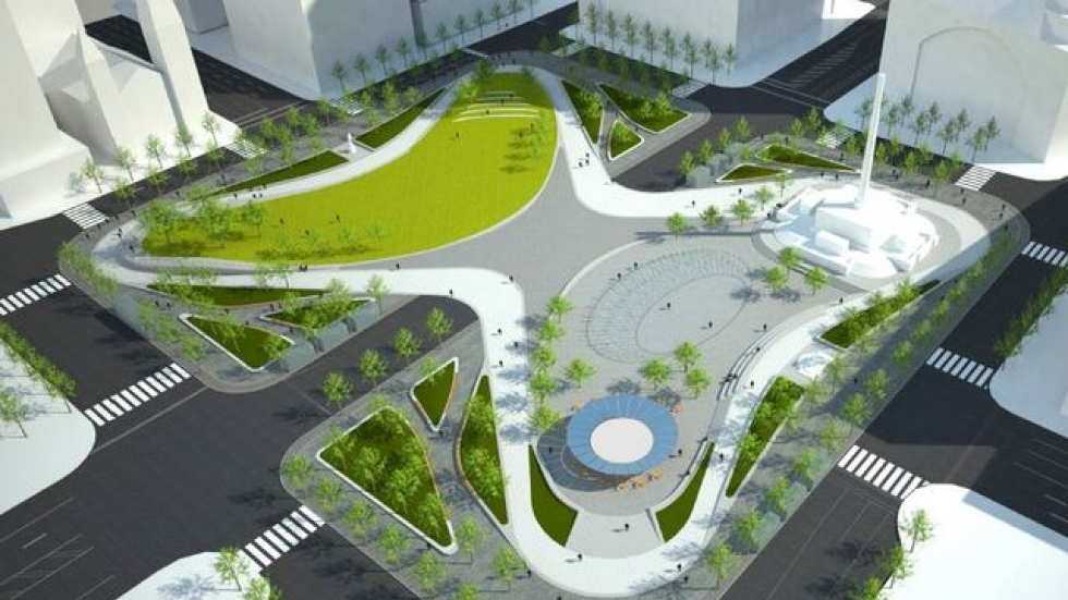An architectural rendering of the new Public Square site, to be completed in 2016 (James Corner Field Operations)
