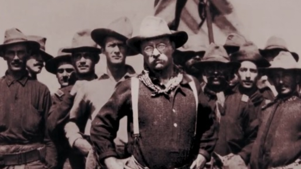 """Theodore Roosevelt (screenshot from """"The Roosevelts""""/pbs.org)"""