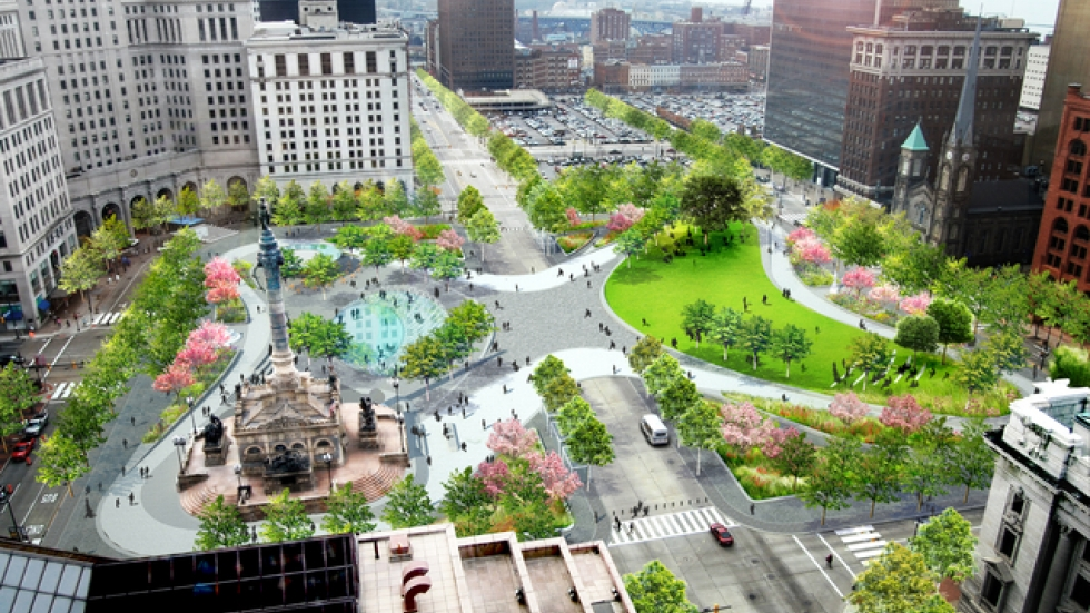 The future Public Square. Photo courtesy of James Corner Field Operations on behalf of The Group Planning Commission.