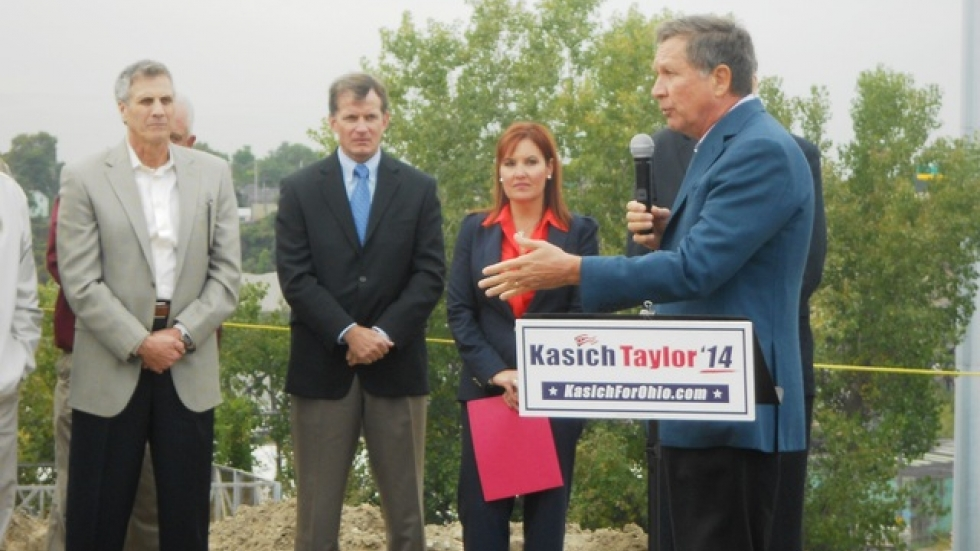 Kasich spoke after the union announced its endorsement.