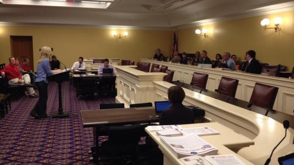 Teacher Karen Wenning testifies in support of bill to repeal the Common Core. Photo coutresy of Andy Chow.