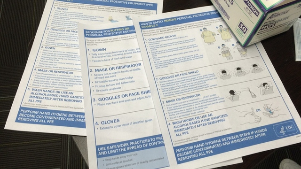 CDC documents outlining infection control protocols (pic: Brian Bull)