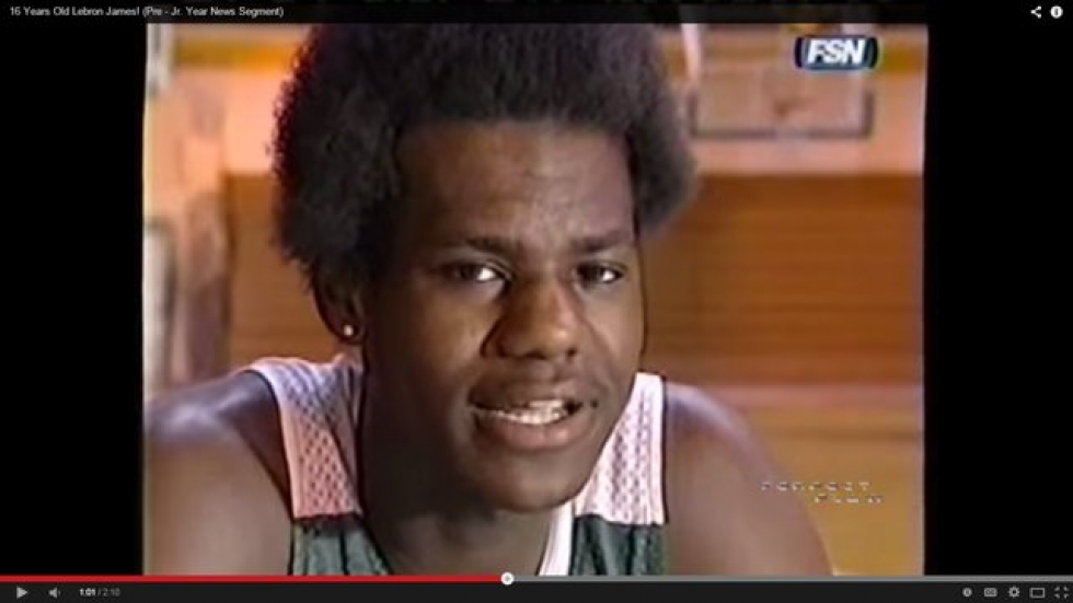 16-year-old LeBron James
