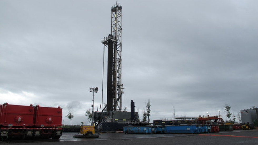 Drilling a shale gas well in eastern Ohio.