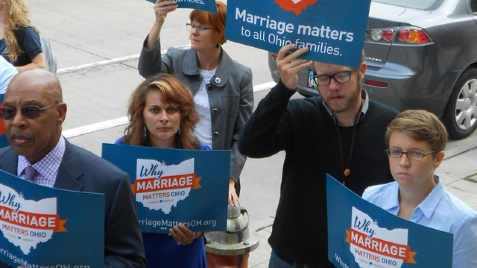 Activists with Why Marriage Matters last year in Cleveland (pic: Brian Bull)