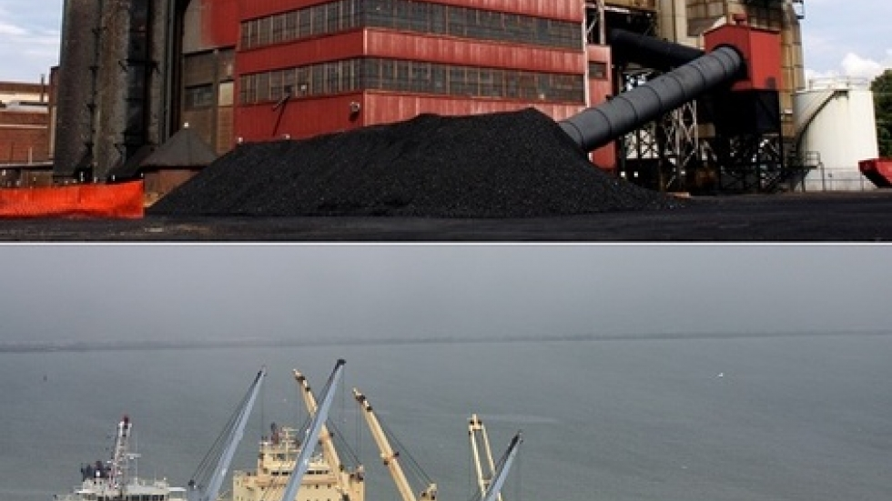 Northeast Ohio coal-burning plant (top) and cargo ships at Port of Cleveland (pics: Brian Bull)