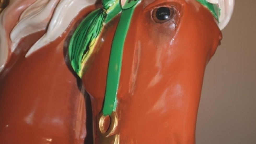 One of many restored carousel horses