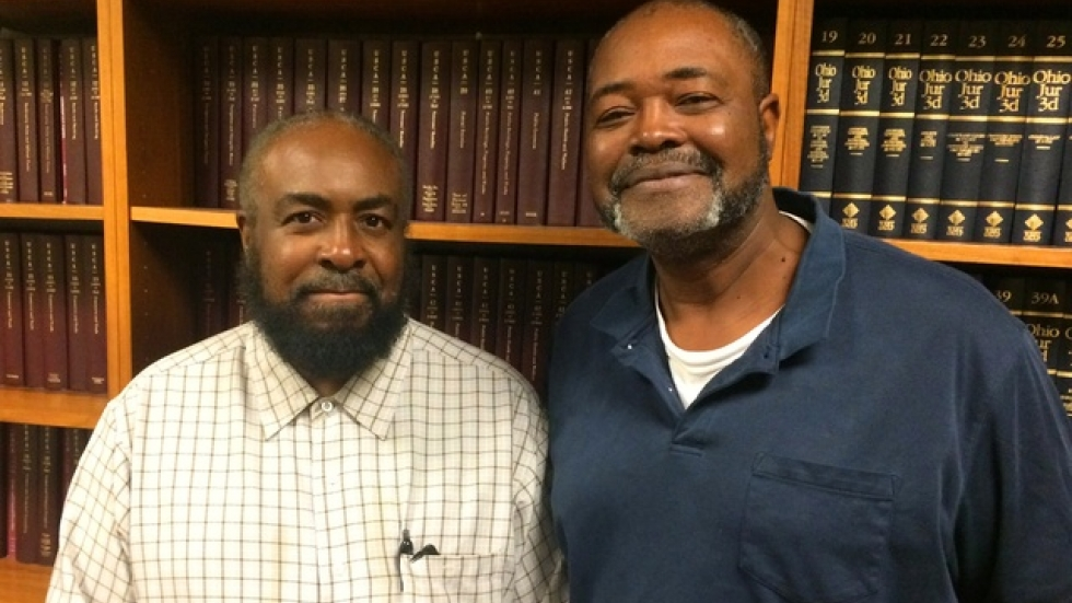 Wiley Bridgeman (left) and Kwame Ajamu (right).  Pic by Brian Bull, ideastream.