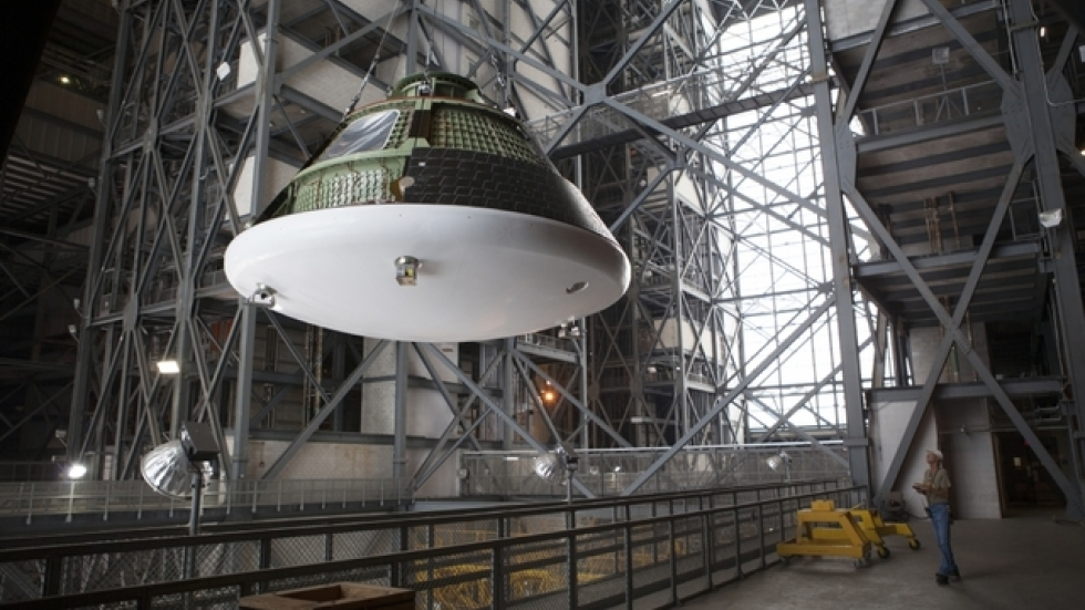 The Orion spacecraft. Photo courtesy of NASA.