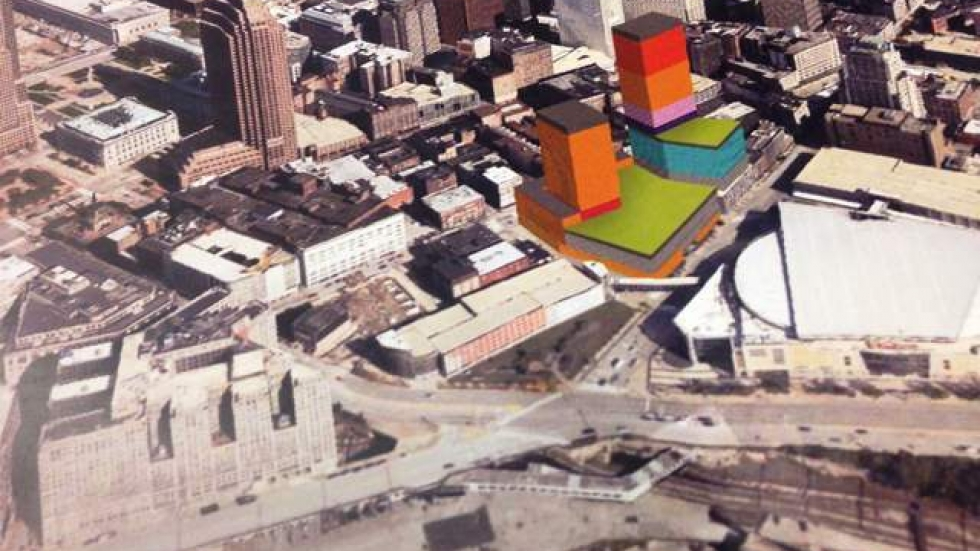 Stark provided a rendering of project, called nuCLEus, to county council last night.