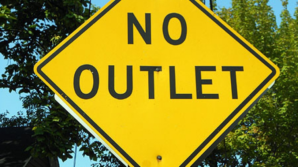 Art renegades of 1970s Cleveland say signs like this symbolized how stifled they felt in the local cultural community