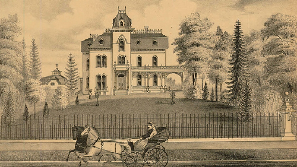 Here's how the mansion looked in the 'Millionaires Row' days (courtesy Cleveland Public Library)