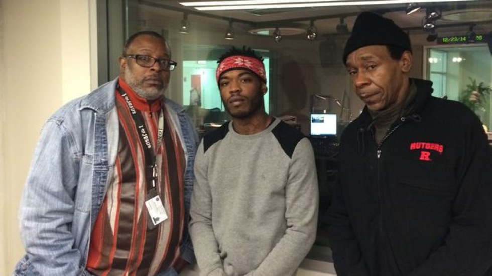 Aaron Chambers (center) with members of the Society for Non-violent Change. (Tony Ganzer/WCPN)