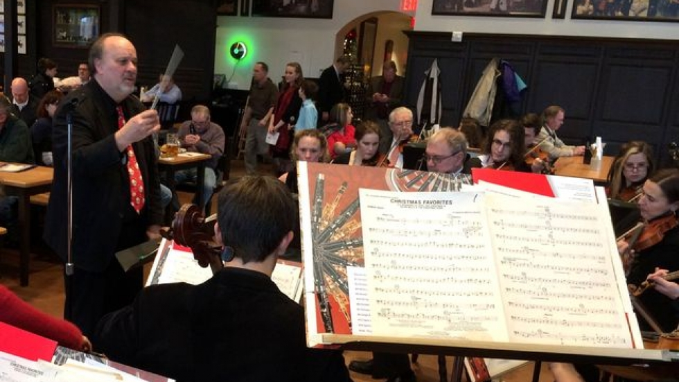 Wednesday's performance was the Hermit Club Orchestra's first public appearance in 110 years