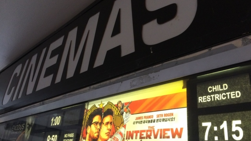 Cleveland Cinemas' Tower City multiplex is showing 'The Interview' as part of the film's limited national release today.