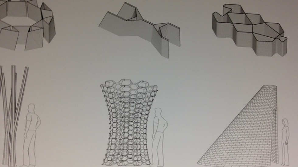 Unique building blocks can be made to fit unusual shapes.
