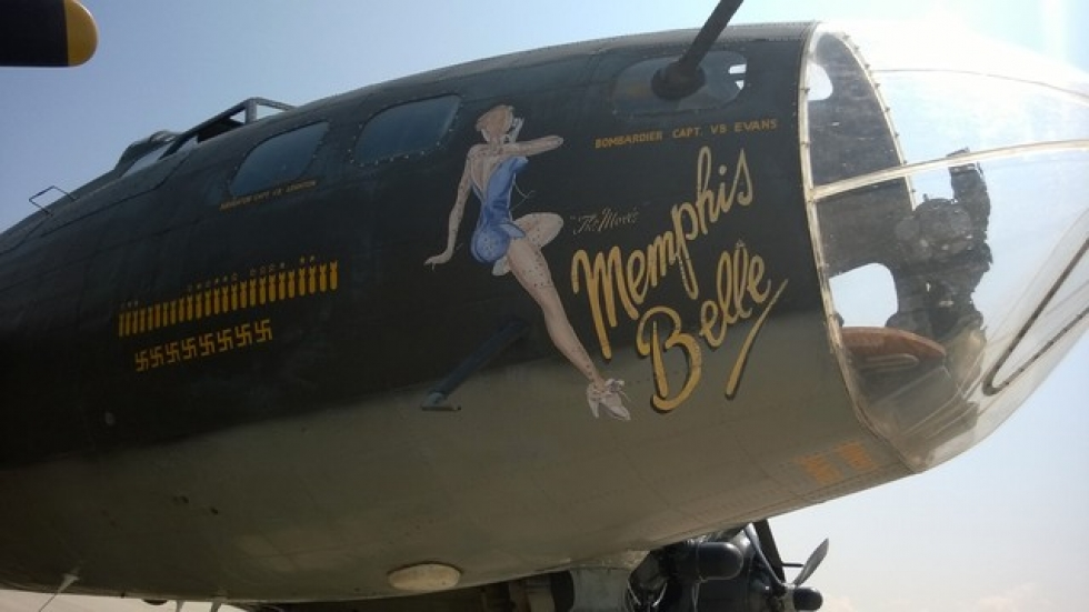 Iconic art on the nose of the aircraft