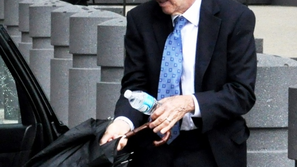 Ben Suarez outside the Louis B. Stokes federal courthouse in June.