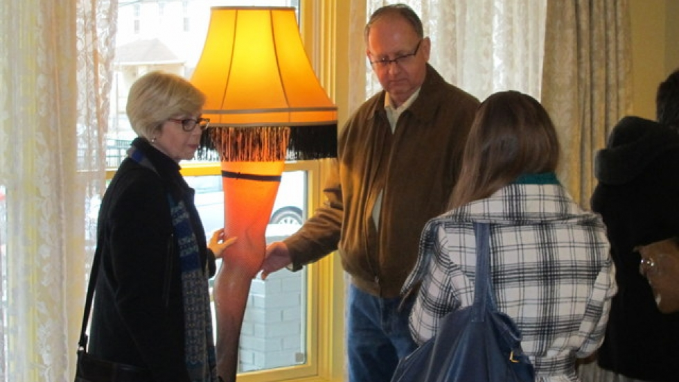 Visitors enjoy posing with the infamous leg lamp (pic: Brian Bull)