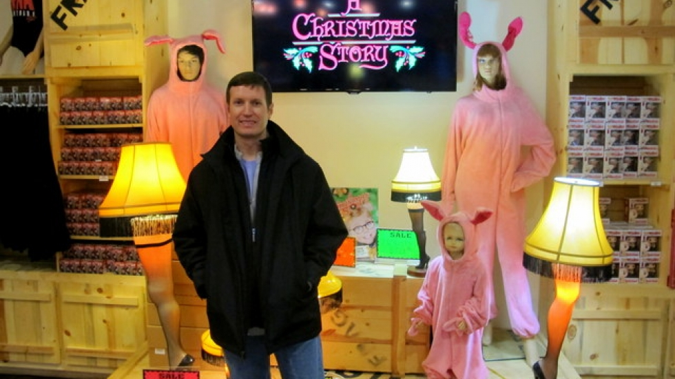 owner brian jones at a christmas story house and museums gift shop pic brian