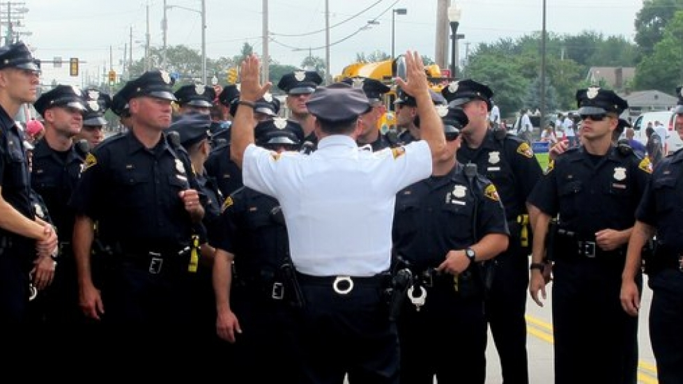 WCPN stock photo of Cleveland Police, at 2014 Labor Day parade.