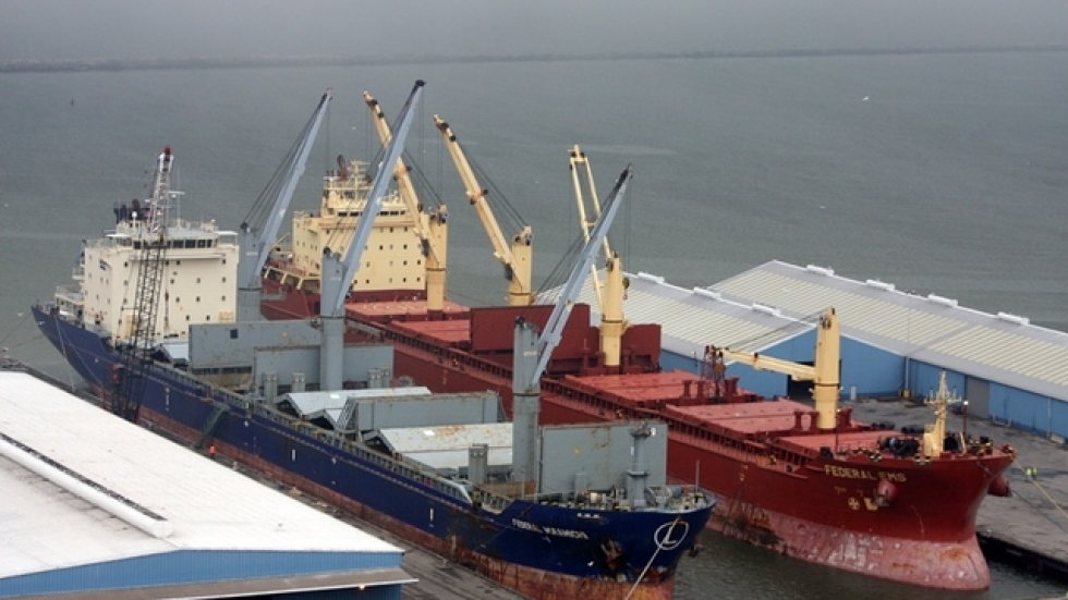Cargo ships at the Port of Cleveland (pic: Brian Bull)
