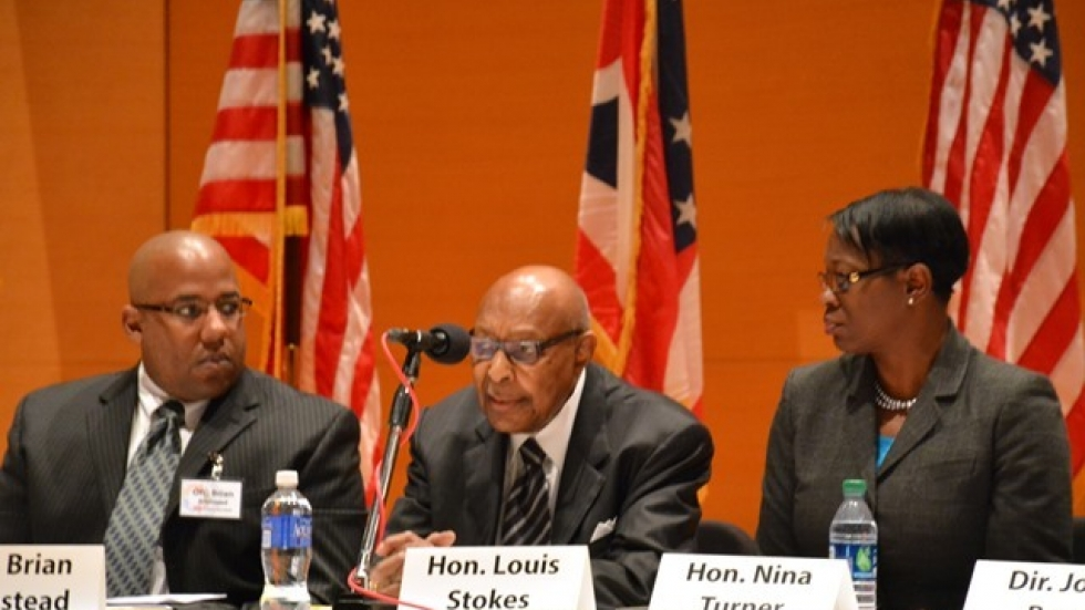 Former U.S. Rep. Louis Stokes and former State Sen. Nina Turner serve on the police-community relations task force.
