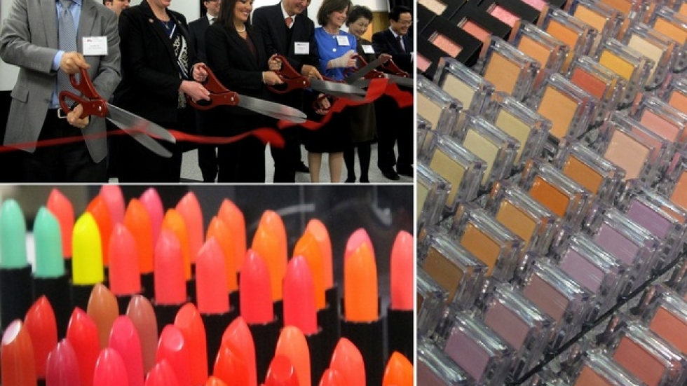 Photo montage of today's ribbon-cutting (pics: Brian Bull)