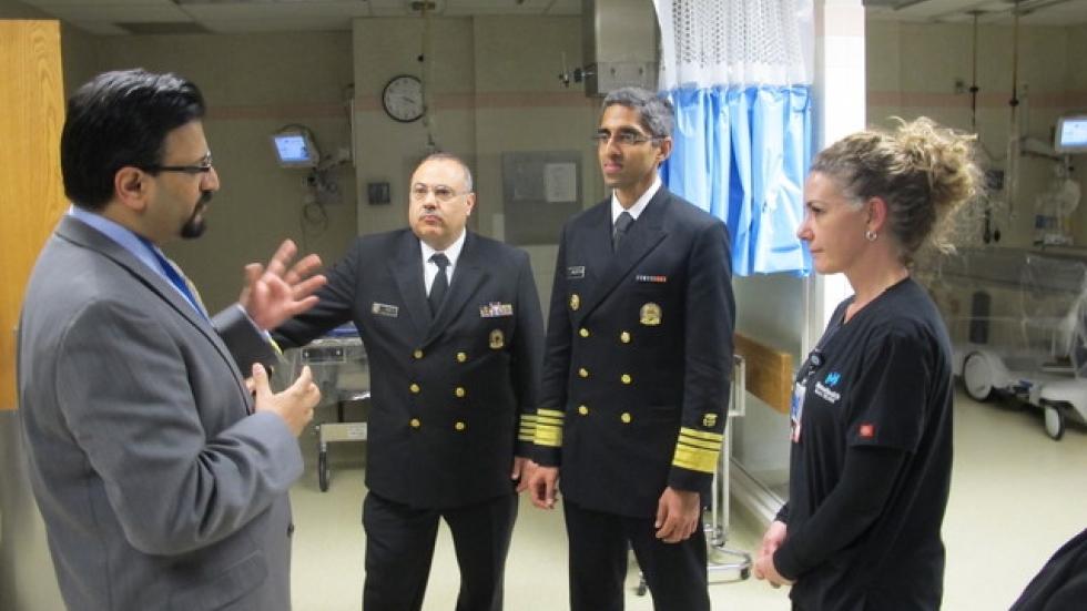U.S. Surgeon General Murthy visits MetroHealth's burn unit (pic: Brian Bull)