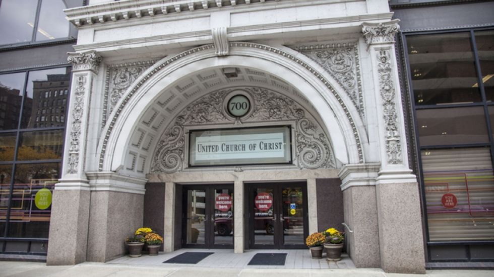 The church's headquarters on Prospect Avenue in downtown Cleveland. Photo credit: United Church of Christ