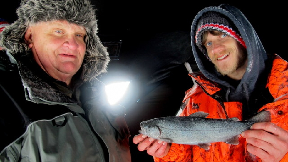 Bob and Shawn Cassidy, with catch (pic: Brian Bull)