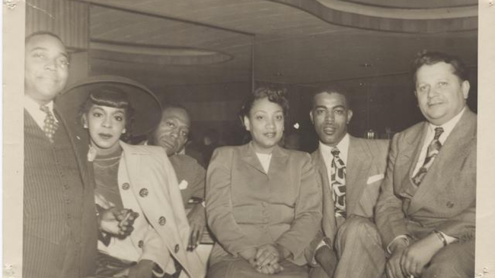 Catherine Drake (center) and Willie Hoge (far right). (Drake family photo)