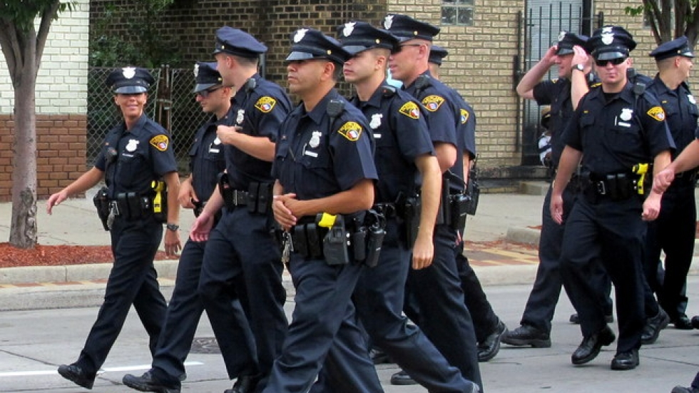 WCPN stock photo of Cleveland Police, at 2014 Labor Day parade (pic: Brian Bull)