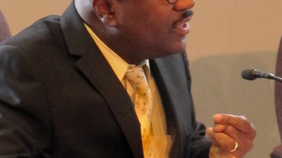 City Councilman Kevin Conwell of Ward 9, at today's meeting (pic: Brian Bull)
