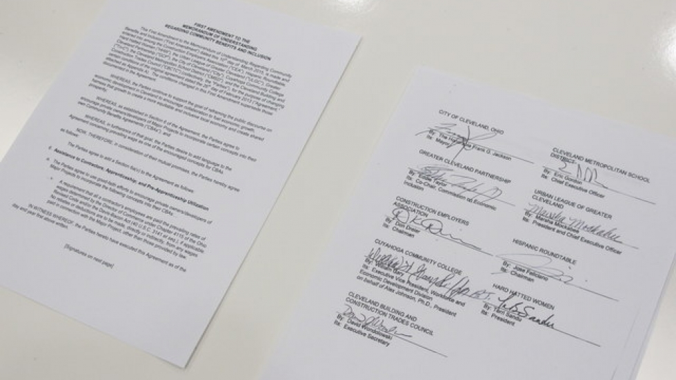 The Memorandum of Understanding with the parties signed off on it (pic: Brian Bull)