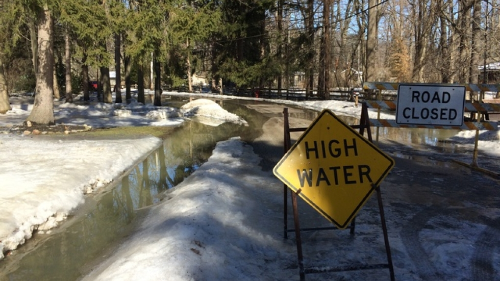 Trailard Road, hit hardest by the flooding, loops inside a bend of the Chagrin River in Willoughby Hills.