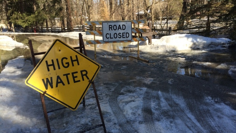 Trailard Road, which follows a bend in the Chagrin River, was hardest hit by flooding.