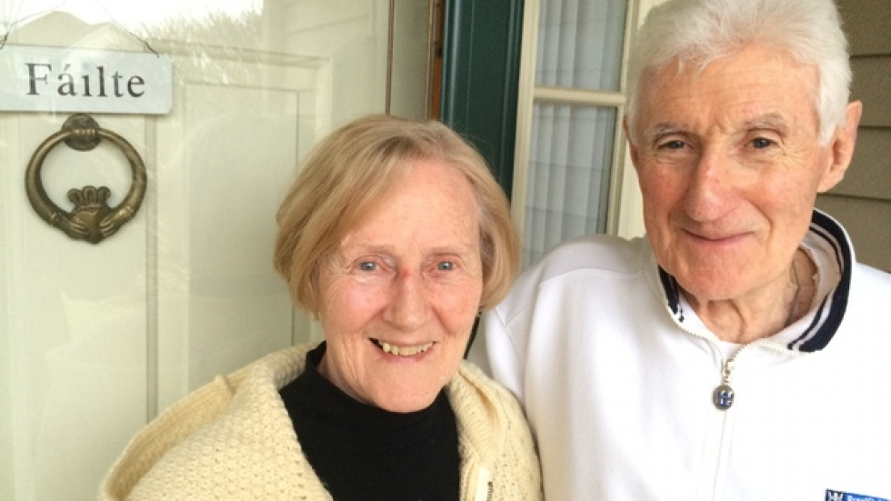 Nell and Frank Buckley extend an Irish welcome to their home
