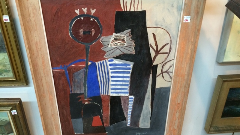 'Two Sioux' (oil on canvas 1952)