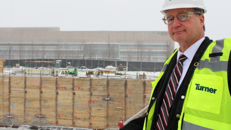 "Cliff Kazmierczak of Turner Construction. ""  (Photo by Sarah Jane Tribble)."