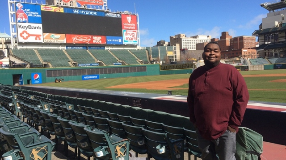 Mike Brown at Progressive Field about six weeks after his kidney transplant.