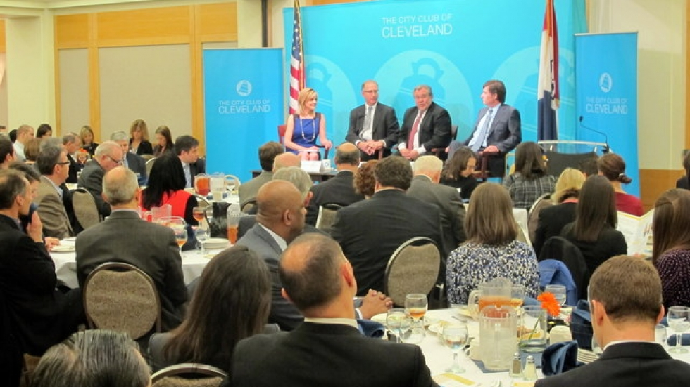 Today's City Club event (photo by Brian Bull)