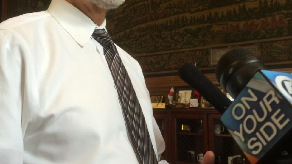 Mayor Frank Jackson talked about the Twitter controversy in his office Thursday. Photo by Joanna Richards