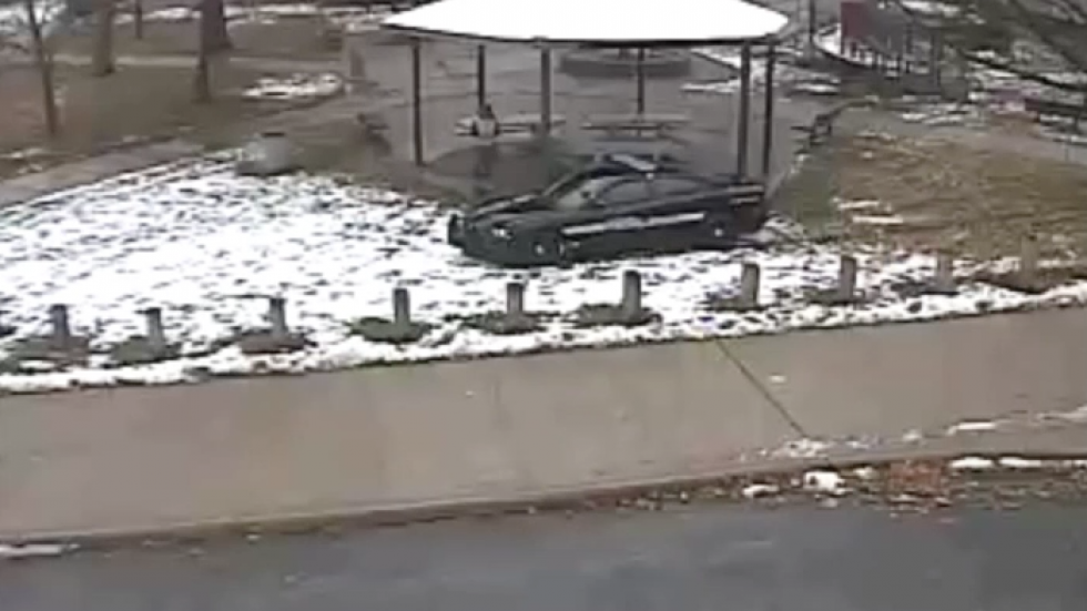 From surveillance footage of the shooting