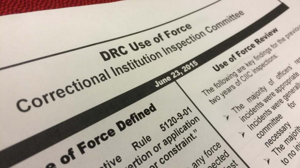 The Correctional Institution Inspection Committee's annual report on use of force in Ohio prisons. Photo by Joanna Richards