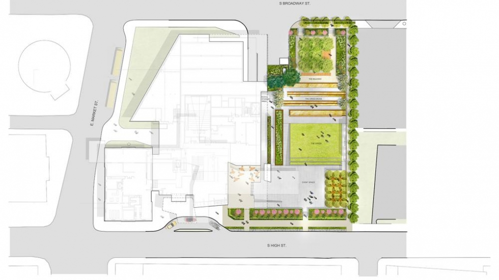 A bird's-eye view of the plan for The Bud and Susie Rogers Garden Photo credit: © OLIN 2015