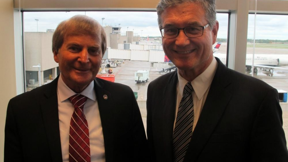 Fred Szabo (left) and Ed Rybak (right) at Cleveland-Hopkins International (pic: Brian Bull)