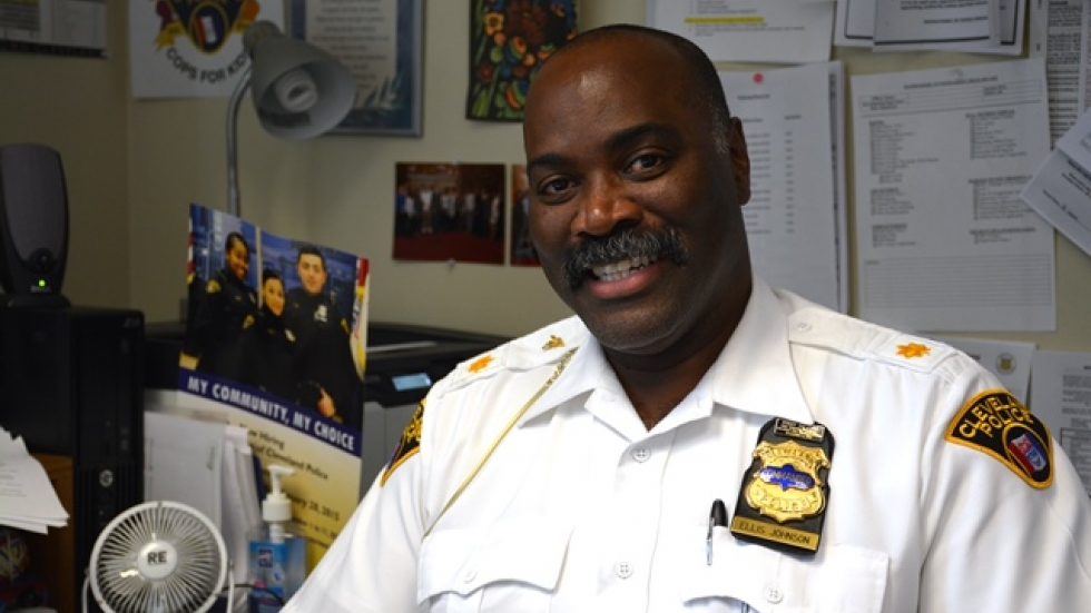 Cleveland police Commander Ellis Johnson leads the community policing unit, which includes recruitment.